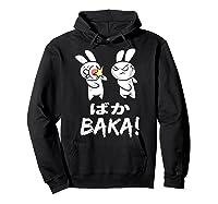 Anime Japanese Baka Rabbit Slap Manga T Shirt Gift Funny T Shirt Hoodie Black