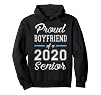Proud Boyfriend Of 2020 Senior Graduation T-shirt For Family Hoodie Black