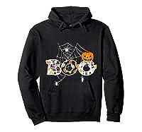 Halloween Boo Breast Cancer Awareness Pumpkin Month T Shirt Hoodie Black