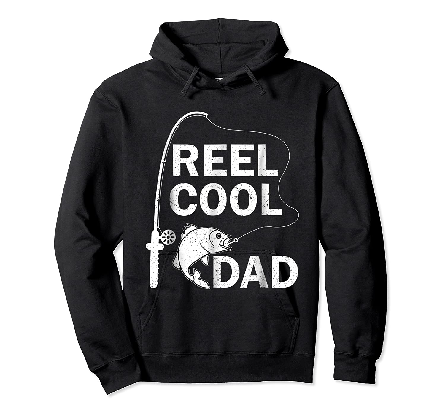 Reel Cool Dad Daddy Fathers Day Father Fishing Fisherman Ts Shirts Unisex Pullover Hoodie