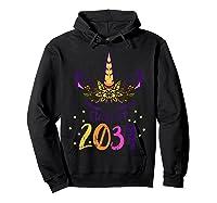 Unicorn Face Class Of 2034 First Day Kindergarten Girls Gift T-shirt Hoodie Black