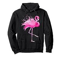 Funny Flamingo Breast Cancer Awareness October Ribbon Pink T Shirt Hoodie Black