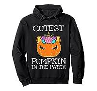 Cutest Pumpkin In The Patch Unicorn Halloween Girls Gift Shirts Hoodie Black