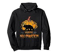 Bear Pumpkin Happy Halloween Costume Shirts Hoodie Black