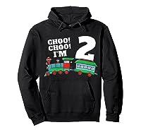 I'm Two Train 2nd Birthday Boy 2 Train Gift Shirts Hoodie Black