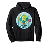 Science Design 4 Geography Travel T Shirt Hoodie Black