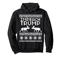 Impeach Trump Christmas T Shirt Anti Trump Holiday Wear Hoodie Black