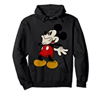 Disney Mickey Mouse Giggle T Shirt Hoodie Black