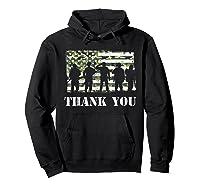 Thank You Veteran Dad Grandpa Veterans Day Gif Shirts Hoodie Black