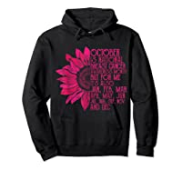 Breast Cancer Awareness October Month T Shirt Hoodie Black