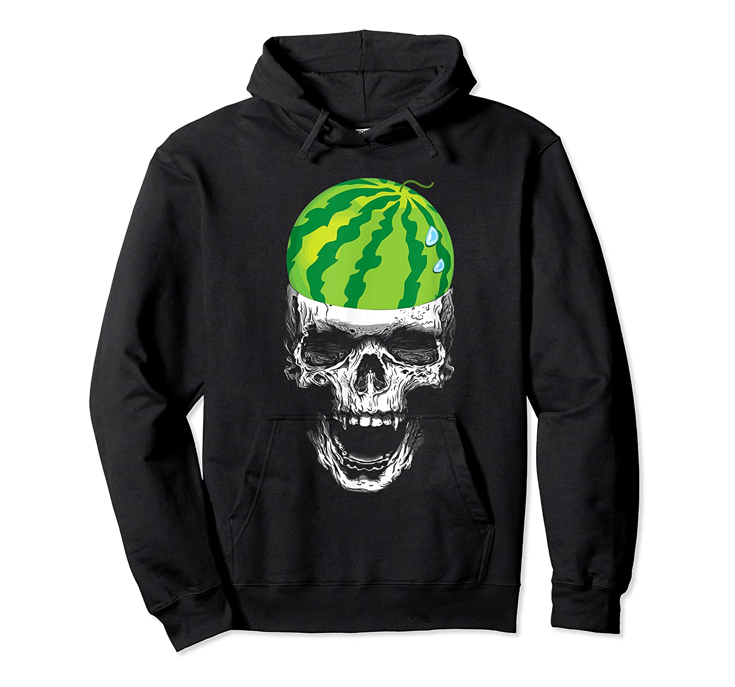 Skull Watermelon Cool Summer Fruit Melon Lover Gift Shirts Unisex Pullover Hoodie