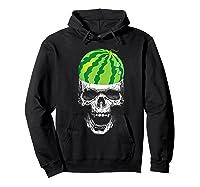 Skull Watermelon Cool Summer Fruit Melon Lover Gift Shirts Hoodie Black