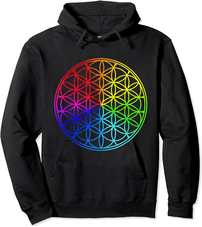 Blume Des Lebens Heilige Geometrie Spirituell Zen Yoga T-shirt Unisex Pullover Hoodie