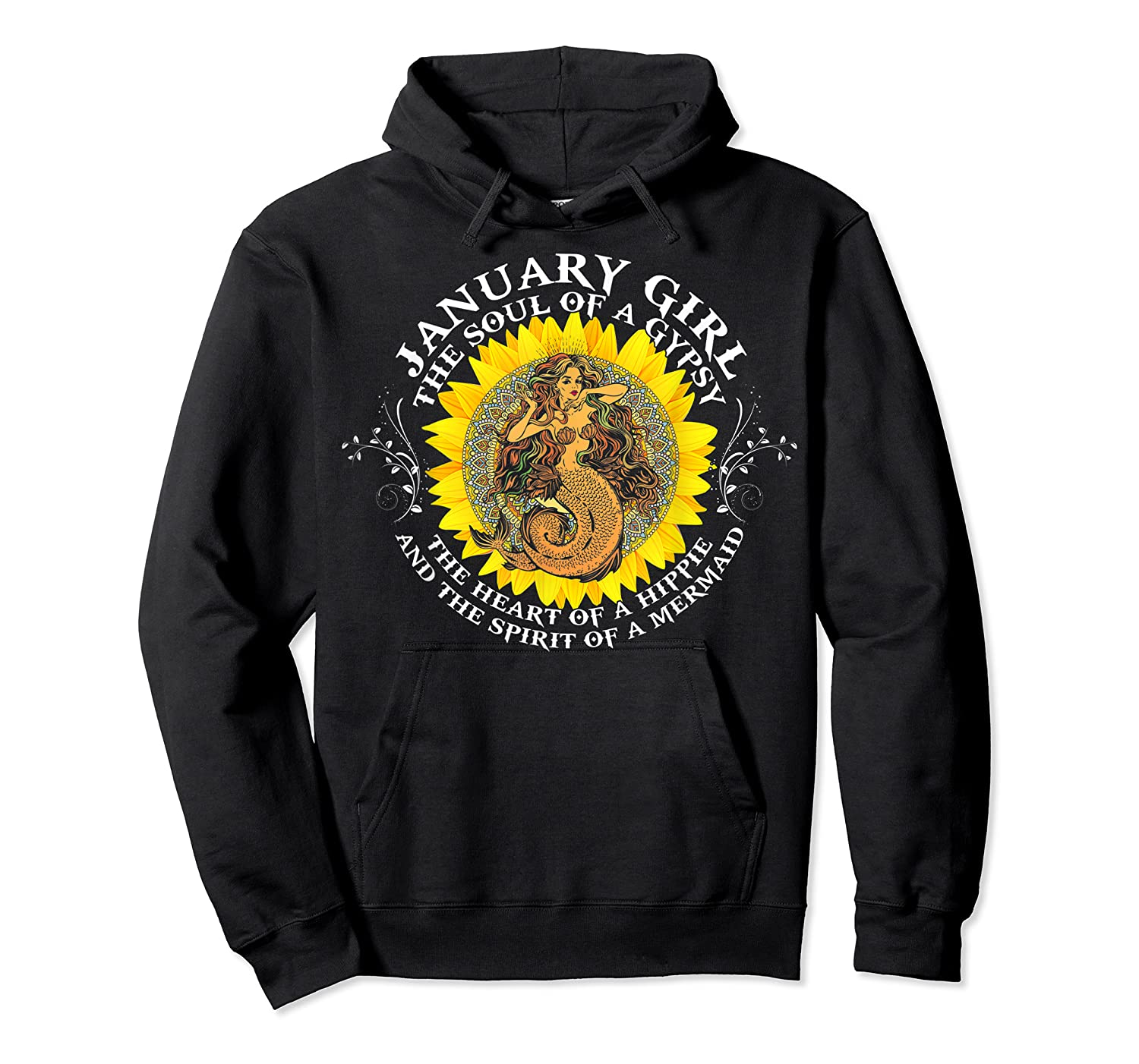 January Girl The Soul Of A Mermaid Tshirt Birthday Gifts Unisex Pullover Hoodie