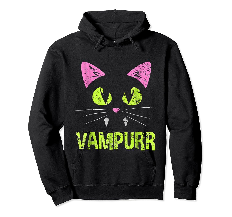 Halloween Scary Cat Vampire Vampurr Girl Shirts Unisex Pullover Hoodie