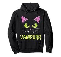 Halloween Scary Cat Vampire Vampurr Girl Shirts Hoodie Black