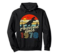 Dinosaur 41st Birthday Gifts Awesome 1978 41 Yrs Old Shirts Hoodie Black