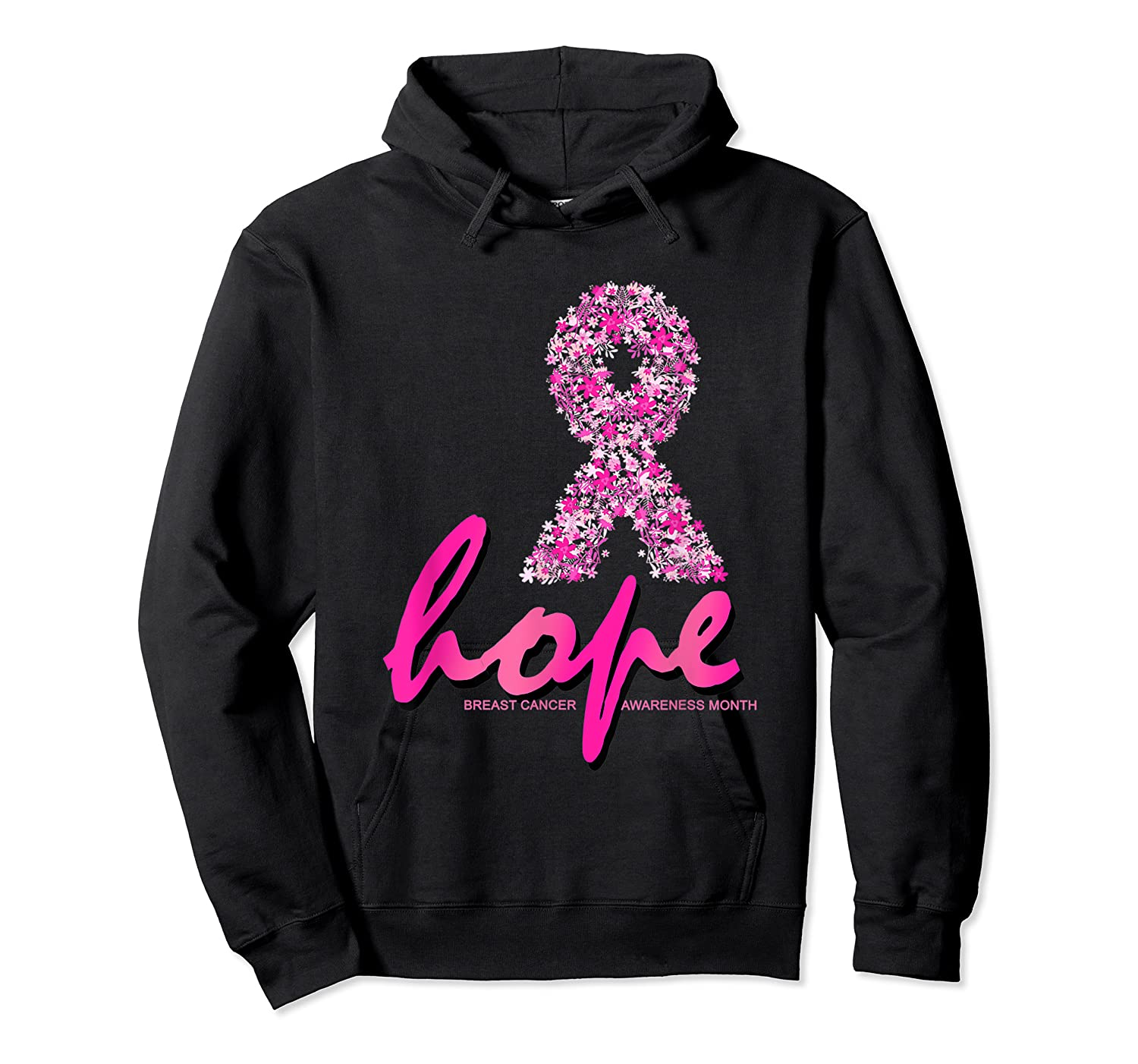 Hope Pink Ribbon Breast Cancer Awareness Month T Shirt Unisex Pullover Hoodie