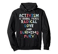 Activism Is Equal Parts Resist Protest Impeach Racist T Shirt Hoodie Black