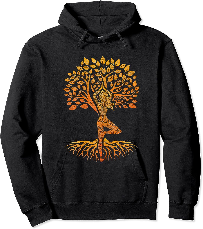 Da Baum Des Lebens With Woman Yoga T-shirt Chakra Haka Yoga T-shirt Unisex Pullover Hoodie