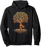 Da Baum Des Lebens With Woman Yoga T-shirt Chakra Haka Yoga T-shirt Hoodie Black