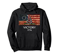 Gadsden B Ross Flag Snake Flag Us American Flag Gift Fan Shirts Hoodie Black