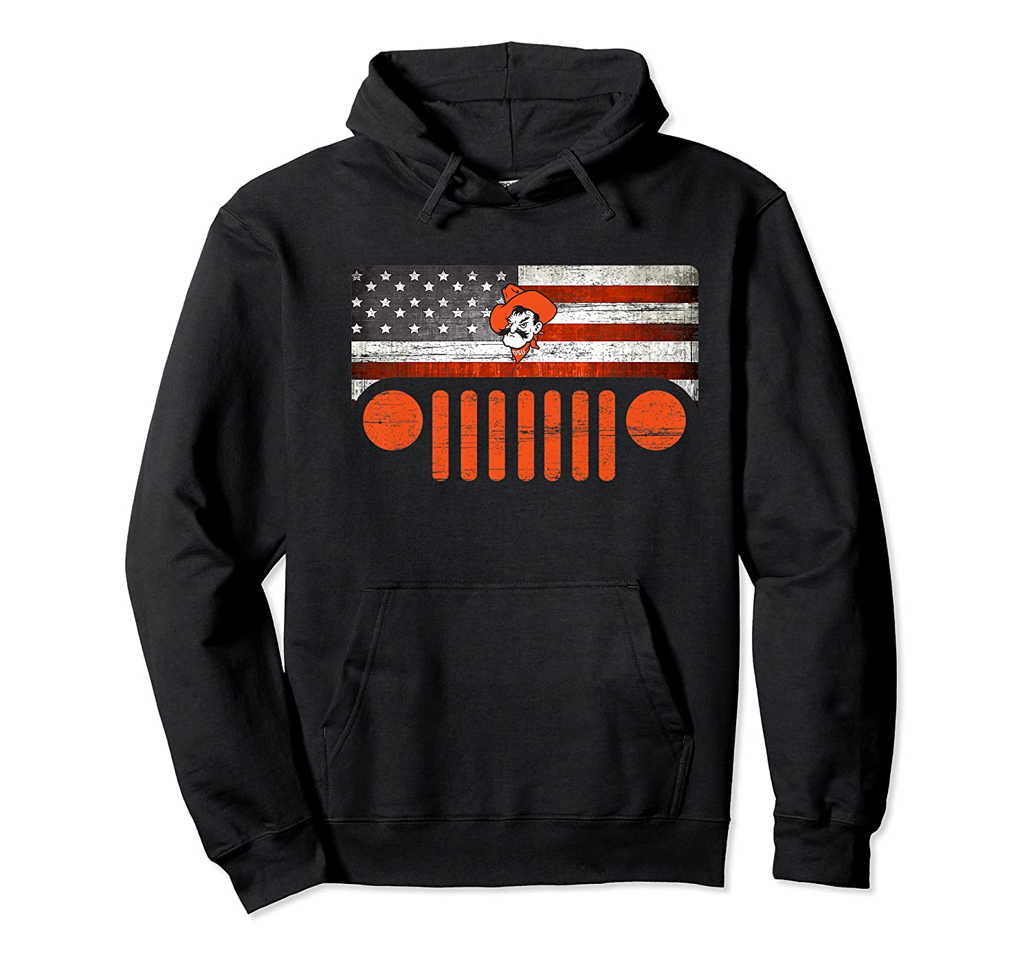 Oklahoma State Cow Nation Flag Apparel Premium T Shirt Unisex Pullover Hoodie