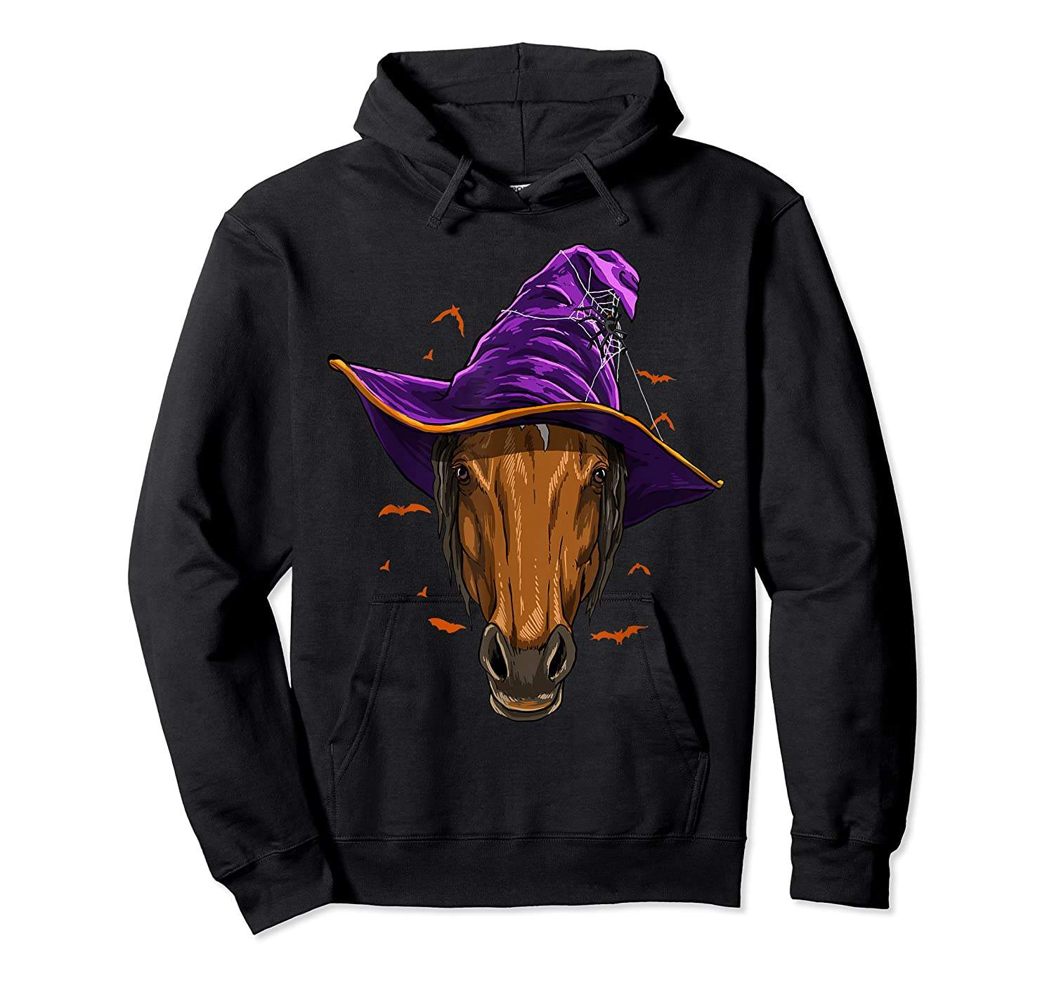 Horse Witch Hat Funny Halloween Gifts Horse Lover Whisperer T Shirt Unisex Pullover Hoodie