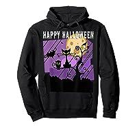 Spoopy Funny Halloween Black Cat Witch Hallow S Eve Joke T Shirt Hoodie Black