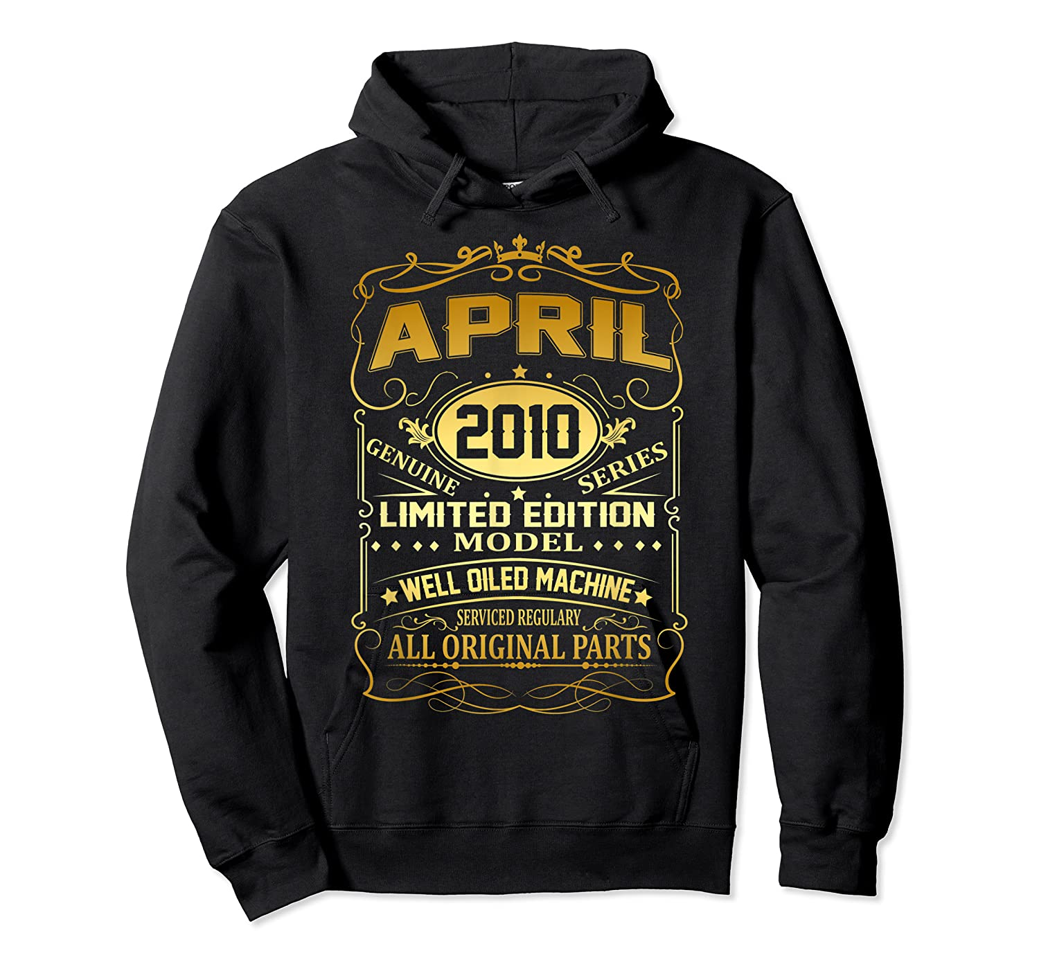 April 2010 Vintage 9th Birthday 9 Years Old Gift Shirt Unisex Pullover Hoodie