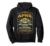 April 2010 Vintage 9th Birthday 9 Years Old Gift Shirt Hoodie Black