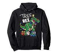 Tree Rex Dinosaur Christmas Gift T Rex Pajamas Xmas Premium T-shirt Hoodie Black