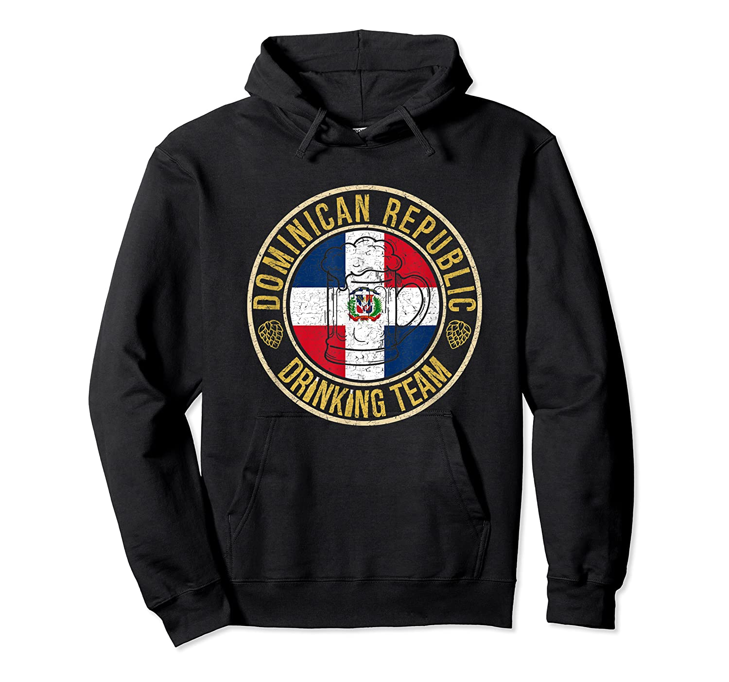 Funny Beer Dominican Republic Drinking Team Casual T-shirt Unisex Pullover Hoodie