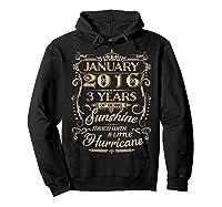 August 2016 - 3 Years Of Being Sunshine Birthday Shirt Hoodie Black