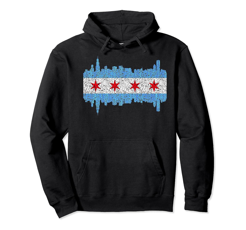City Of Chicago Shirt Chicago City Vintage Flag Premium T Shirt Unisex Pullover Hoodie