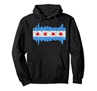 City Of Chicago Shirt Chicago City Vintage Flag Premium T Shirt Hoodie Black