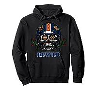 Denver Football Helmet Sugar Skull Day Of The Dead T Shirt Hoodie Black