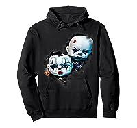 Creepy Evil Clown Halloween T-shirt Hoodie Black
