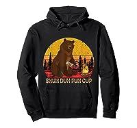 Shuh Duh Fuh Cup Bear Drinking Beer Camping T Shirt Hoodie Black