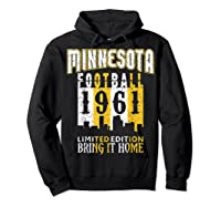 Minnesota 1961 Skyline Throwback Football Shirts Hoodie Black