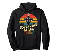 Vintage Saints Awesome Since 1967 New Orleans Football Retro Shirts Hoodie Black