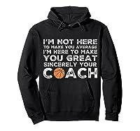 Funny Basketball Coach Shirt   Coaches Tshirt Gift Idea Hoodie Black