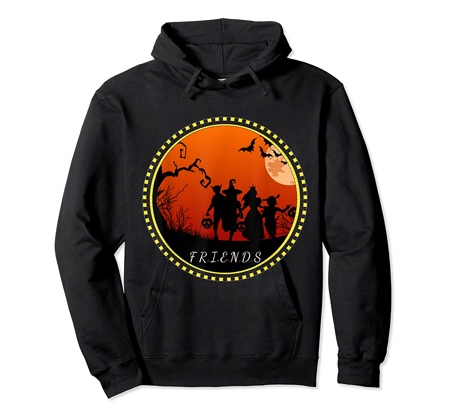 Friends Horror Scary Halloween T Shirt For  Unisex Pullover Hoodie