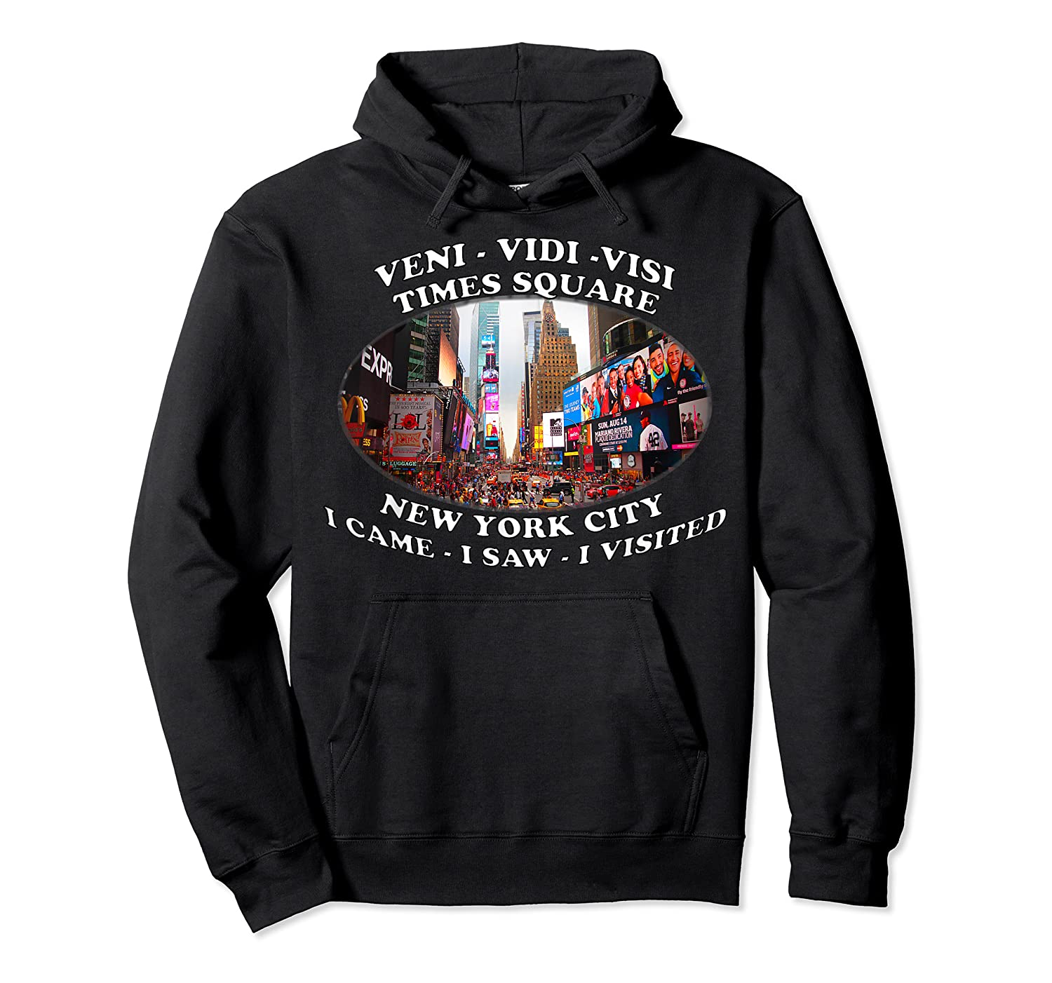 Times Square New York City Visit Shirts Unisex Pullover Hoodie