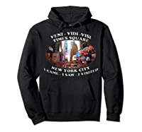 Times Square New York City Visit Shirts Hoodie Black