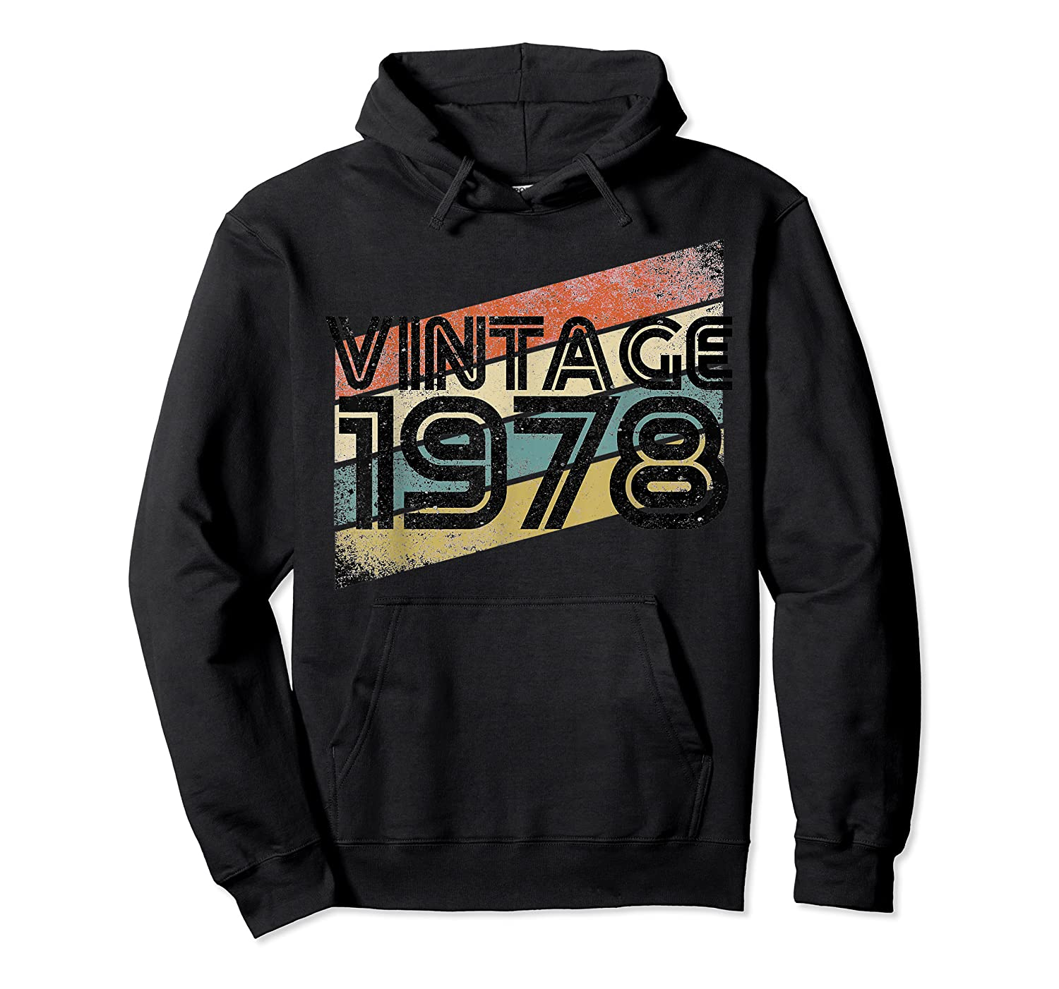 Vintage 1978 - Retro 40th T Shirt Gift 40 Yrs Years Old Unisex Pullover Hoodie