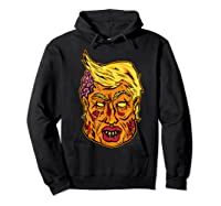 Cool And Creative Zombie Donald Trump T-shirt Hoodie Black