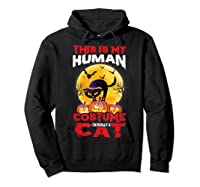 Cat Funny Halloween T-shirt For Girls Adults Hoodie Black