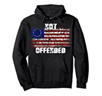 Not Offended B Ross American Flag Shirts Hoodie Black
