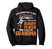 My Favorite Rugby Player Calls Me Grandma Gift For Nana Shirts Hoodie Black